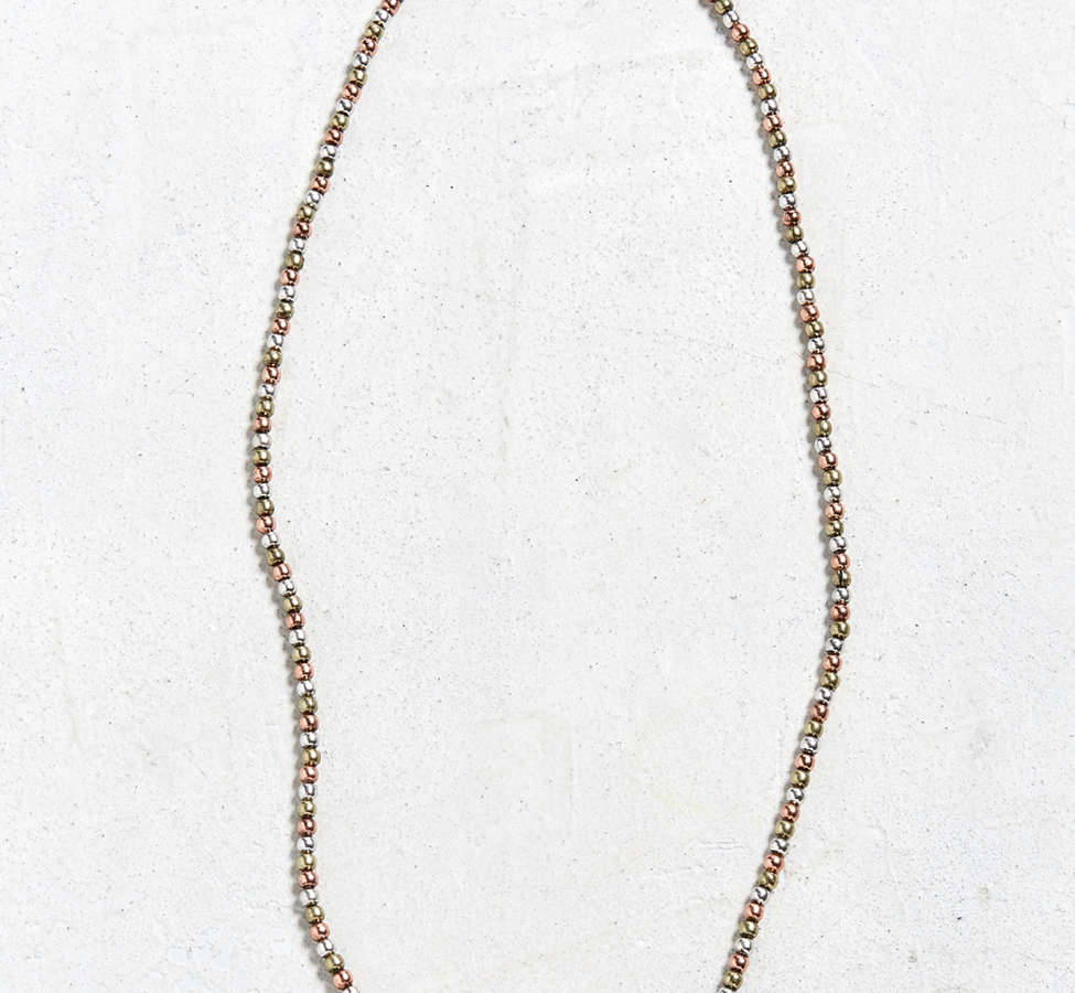 Slide View: 1: Antique Tri-Tone Beaded Necklace