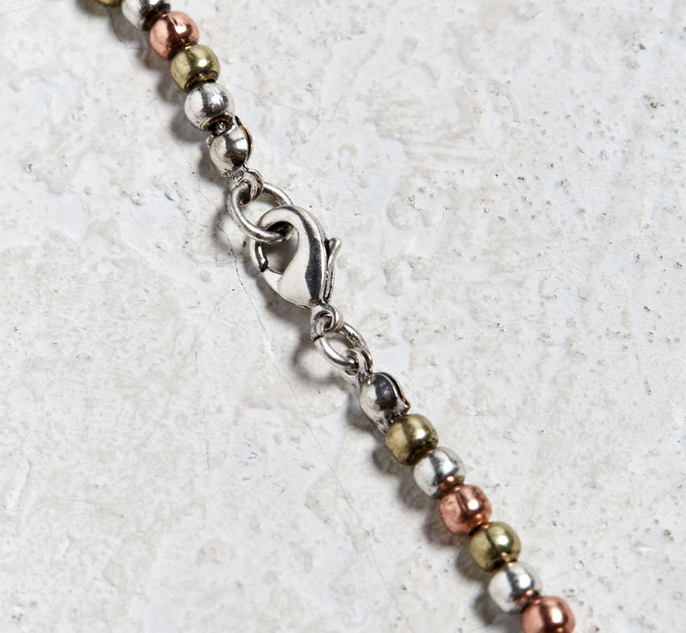 Slide View: 2: Antique Tri-Tone Beaded Necklace