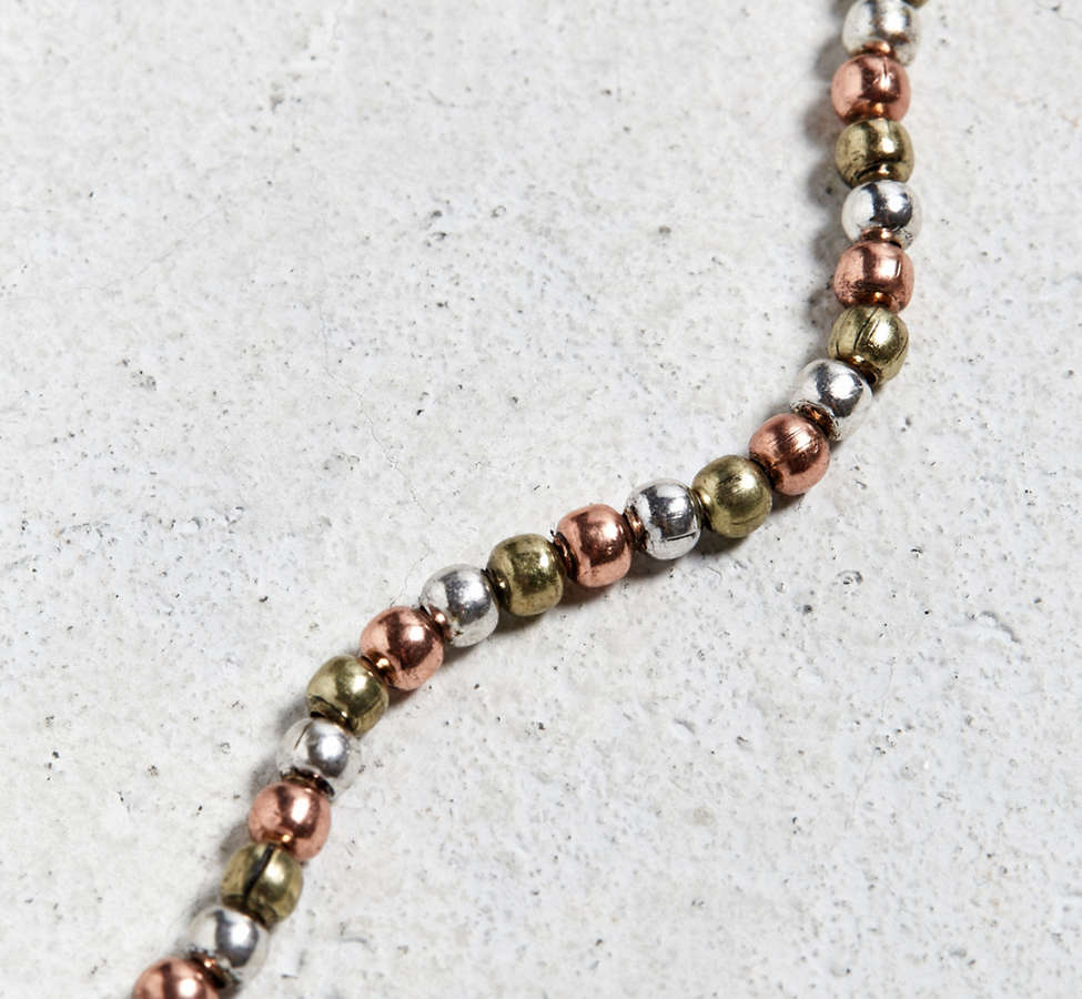 Slide View: 3: Antique Tri-Tone Beaded Necklace