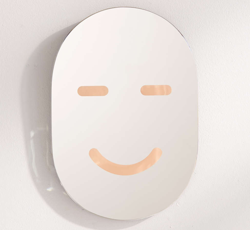 Slide View: 2: Areaware Happy Face Mirror