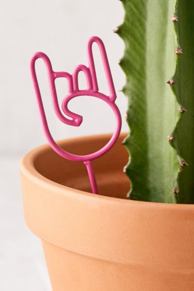 Rock On Planter Stake - Pink One Size at Urban Outfitters