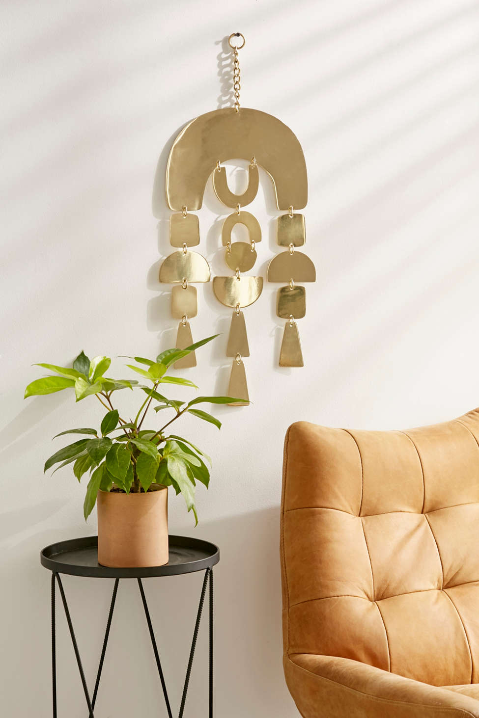 Slide View: 1: Cibu Metal Shapes Wall Hanging