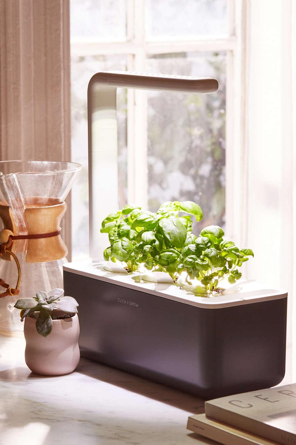 Slide View: 1: Click & Grow Smart Herb Garden 3 Starter Kit
