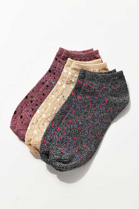 Out From Under Sparkle Dot Ankle Sock 3-Pack