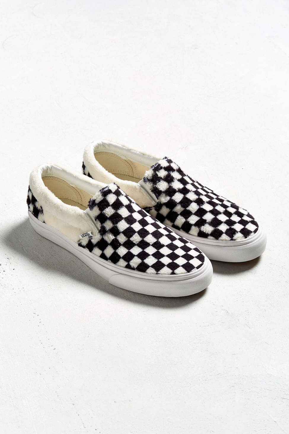 Vans Classic Slip On Checkerboard Sherpa Sneaker Urban