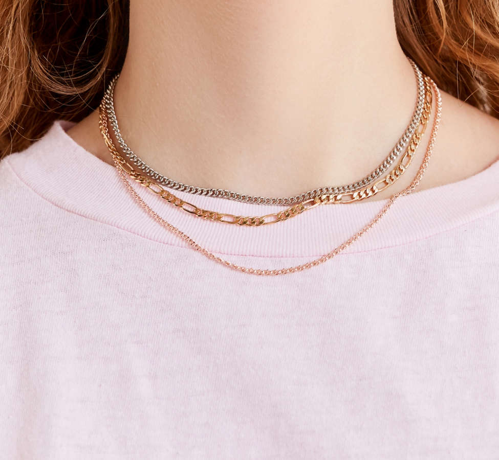Slide View: 1: Simple Chain Necklace Set