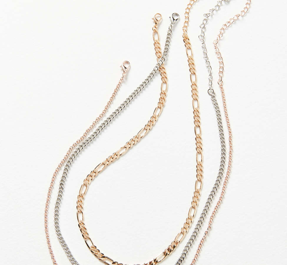 Slide View: 2: Simple Chain Necklace Set