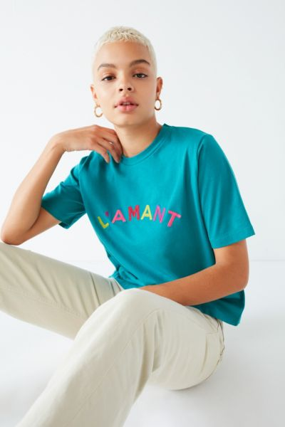L'amant Tee - Green S at Urban Outfitters