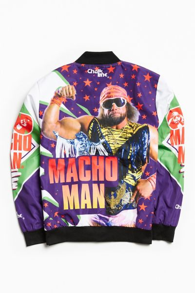 Chalk Line WWE Macho Man Fanimation Bomber Jacket  - Assorted S at Urban Outfitters