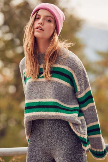UO Oversized Striped Boyfriend Sweater