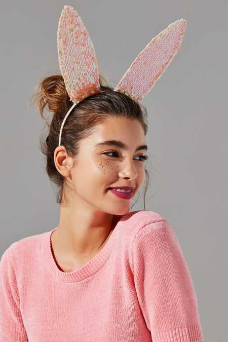 Sequin Bunny Ear Headband Halloween Costume