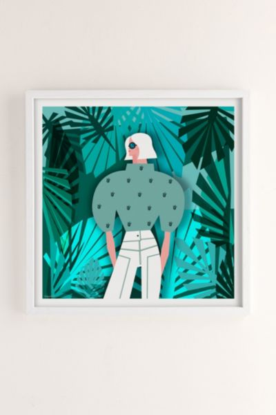 Veronica Grech Tropical Mood Art Print - White 12in x12in at Urban Outfitters