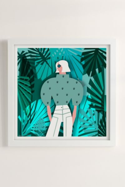 Veronica Grech Tropical Mood Art Print - Pearl 12in x12in at Urban Outfitters
