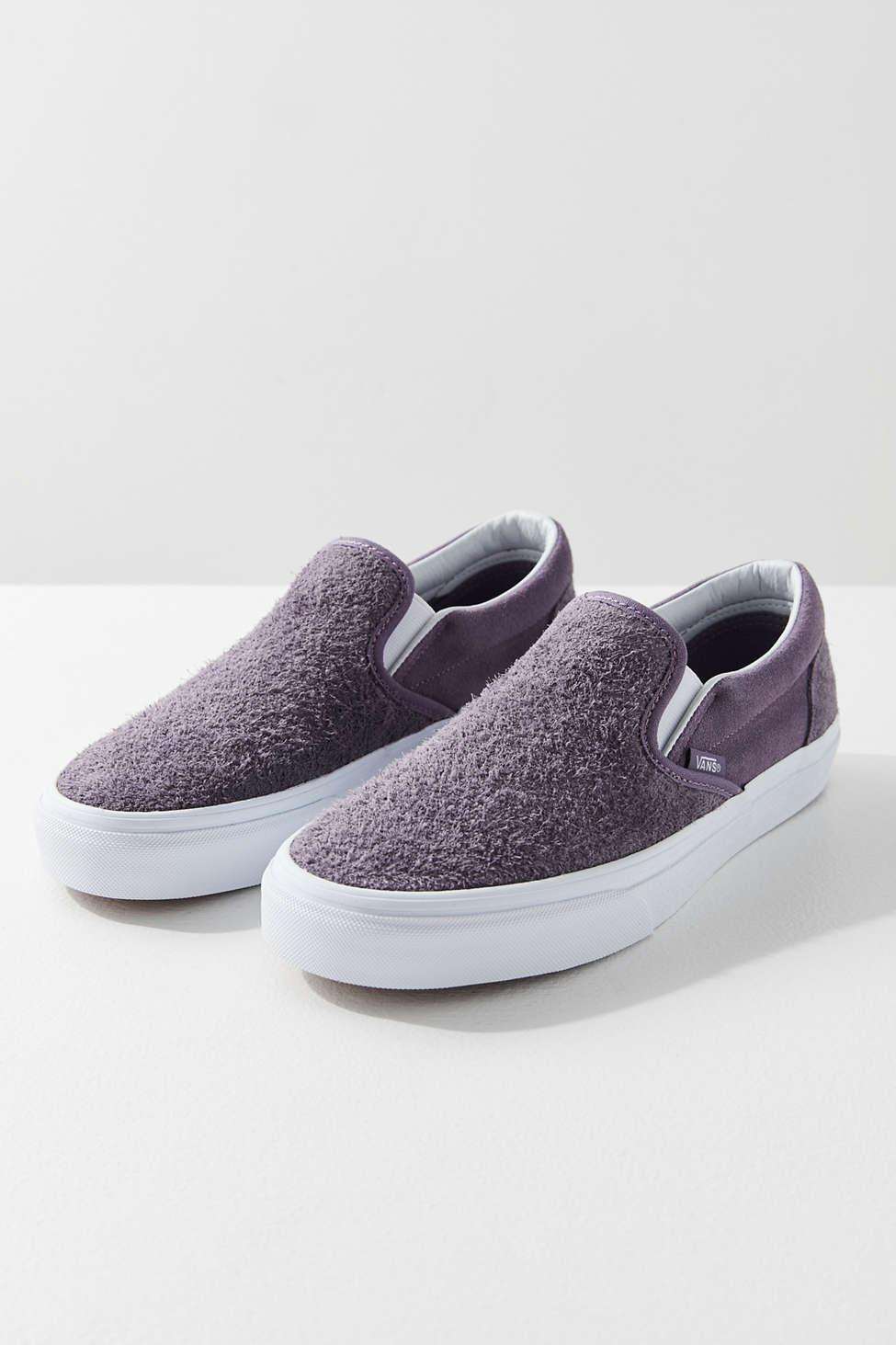 HAIRY SUEDE SLIP-ON - Sneaker low - purple CRMeq