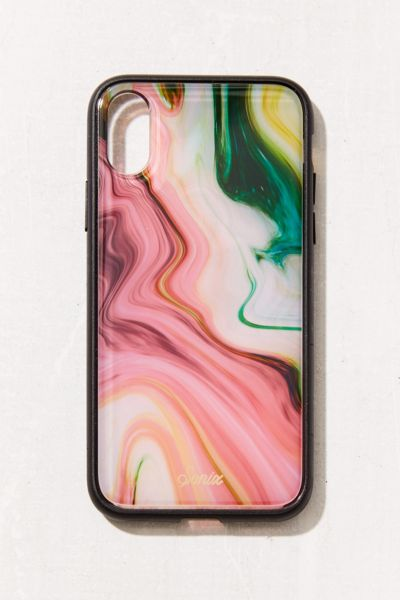Sonix Luxe Marble Agate iPhone X Case - Red Multi One Size at Urban Outfitters