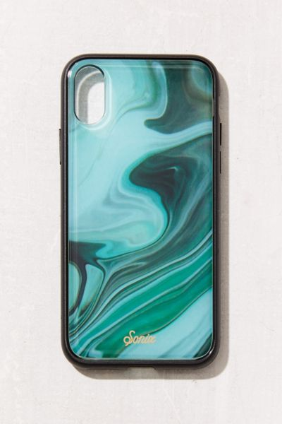 Sonix Luxe Marble Jade iPhone X Case - Green One Size at Urban Outfitters