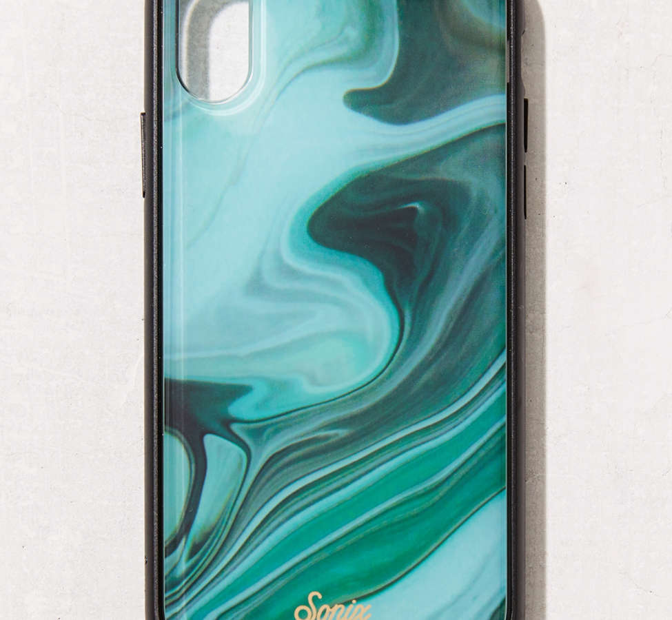 Slide View: 1: Sonix Luxe Marble Jade iPhone X Case