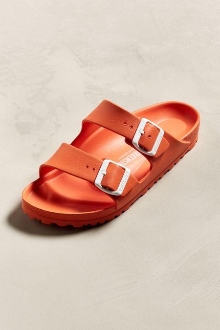 orange men s slide sandals slippers urban outfitters