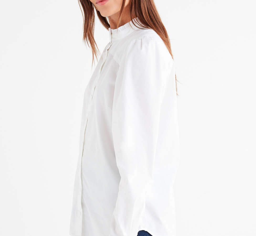 Slide View: 4: UO Ella Poplin Ruffle Top
