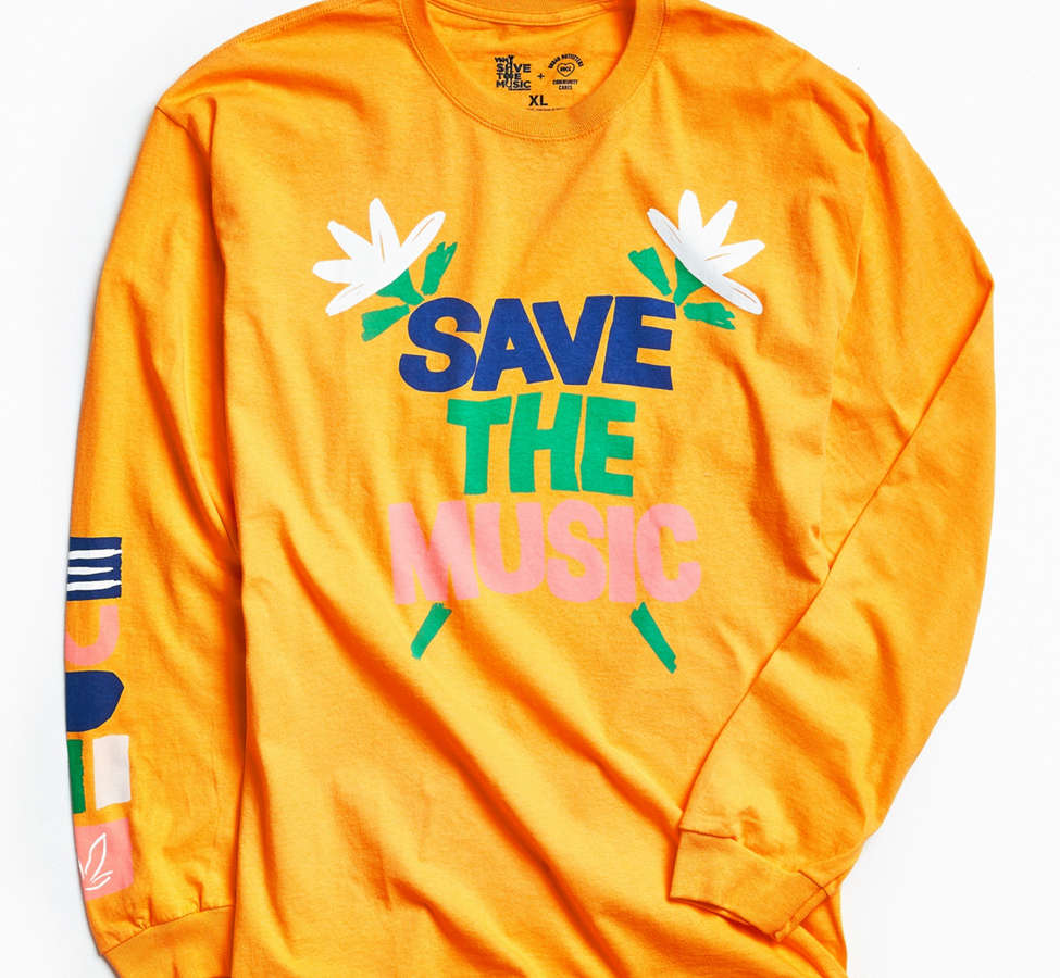 Slide View: 1: UO + VH1 Save The Music Foundation Long-Sleeve Tee