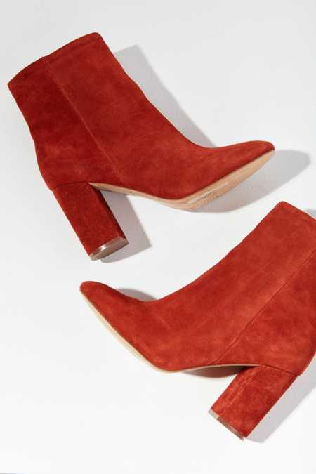 Sloane Seamed Suede Ankle Boot