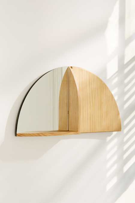 Right Angle Mirror Shelf