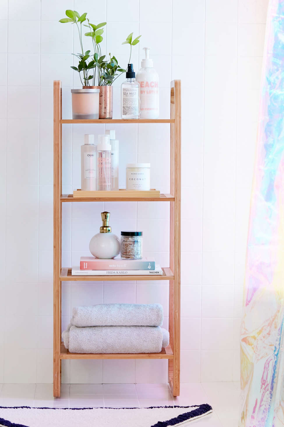 Slide View: 1: Bamboo Tiered Shelf
