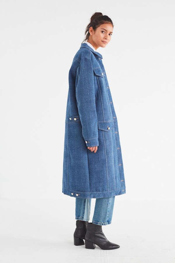 Rocket X Lunch Long Denim Coat | Urban Outfitters