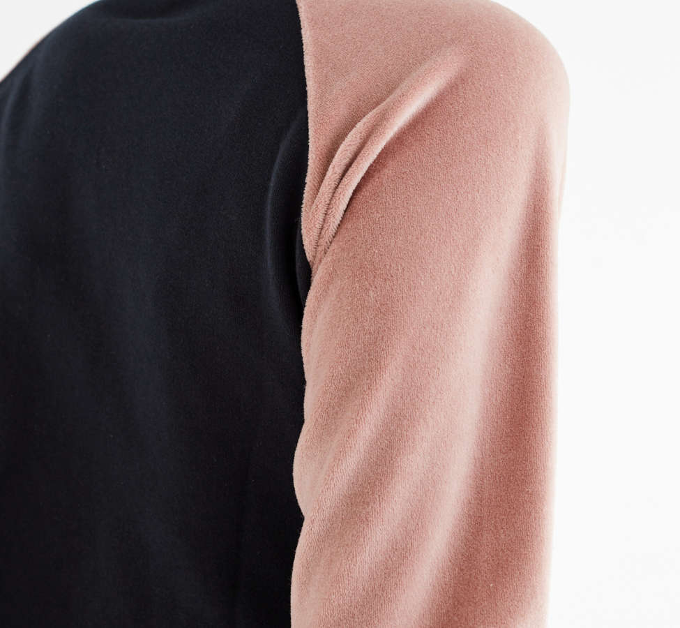 Slide View: 6: UO Colorblock Velour Track Jacket