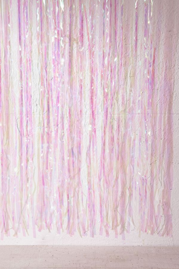 Slide View 3 Iridescent Fringe Door Curtain Party Banner