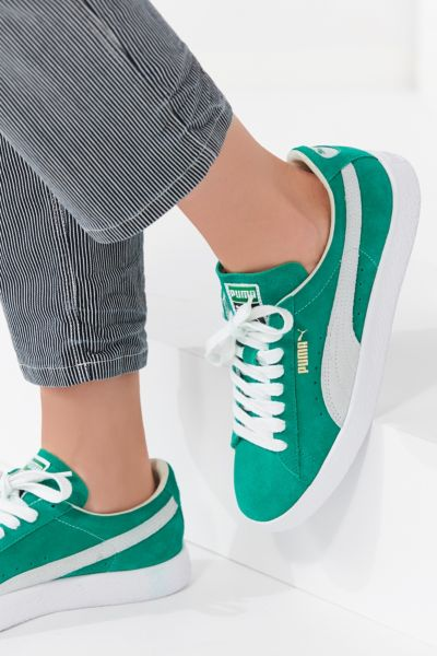 Puma Suede 50 Sneaker - Bright Green 6 at Urban Outfitters