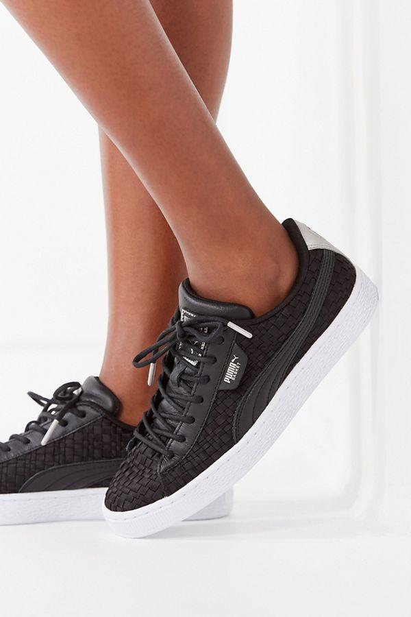 puma basket weave sneakers