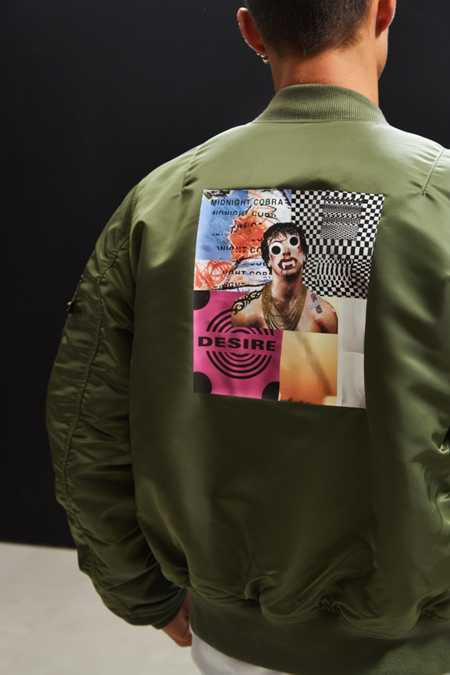 Alpha Industries X UO Collage Back Patch Bomber Jacket