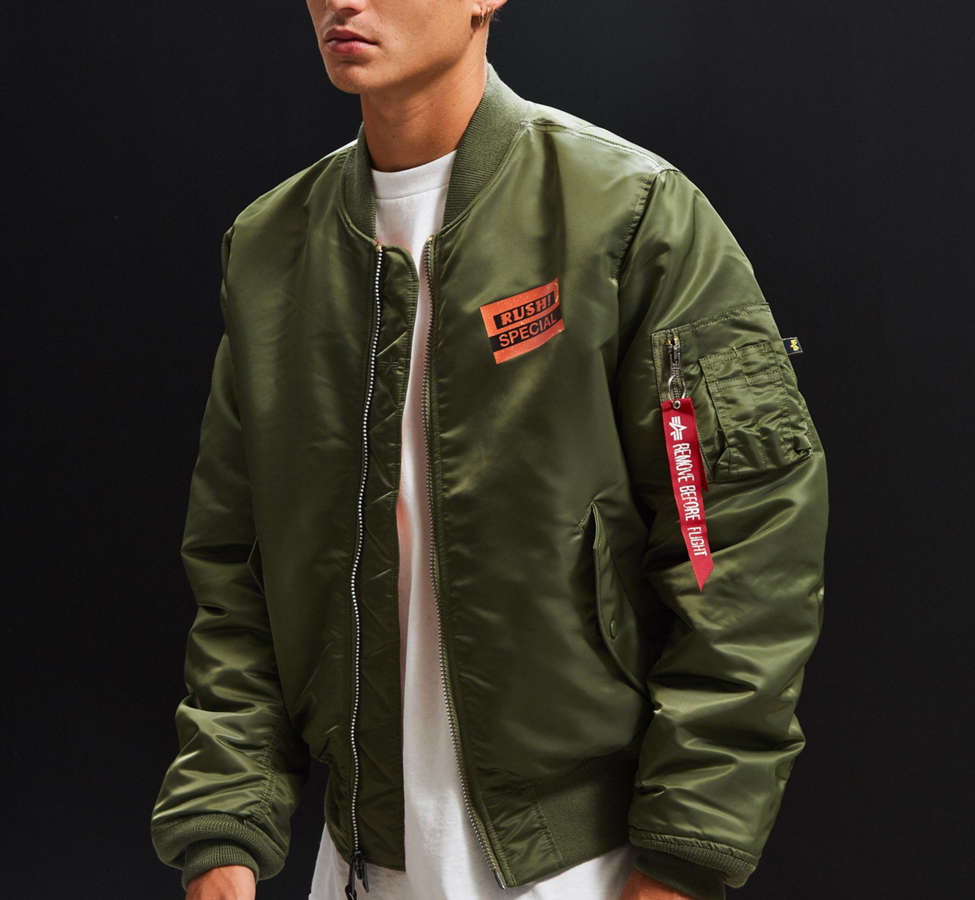 Slide View: 3: Alpha Industries X UO Collage Back Patch Bomber Jacket