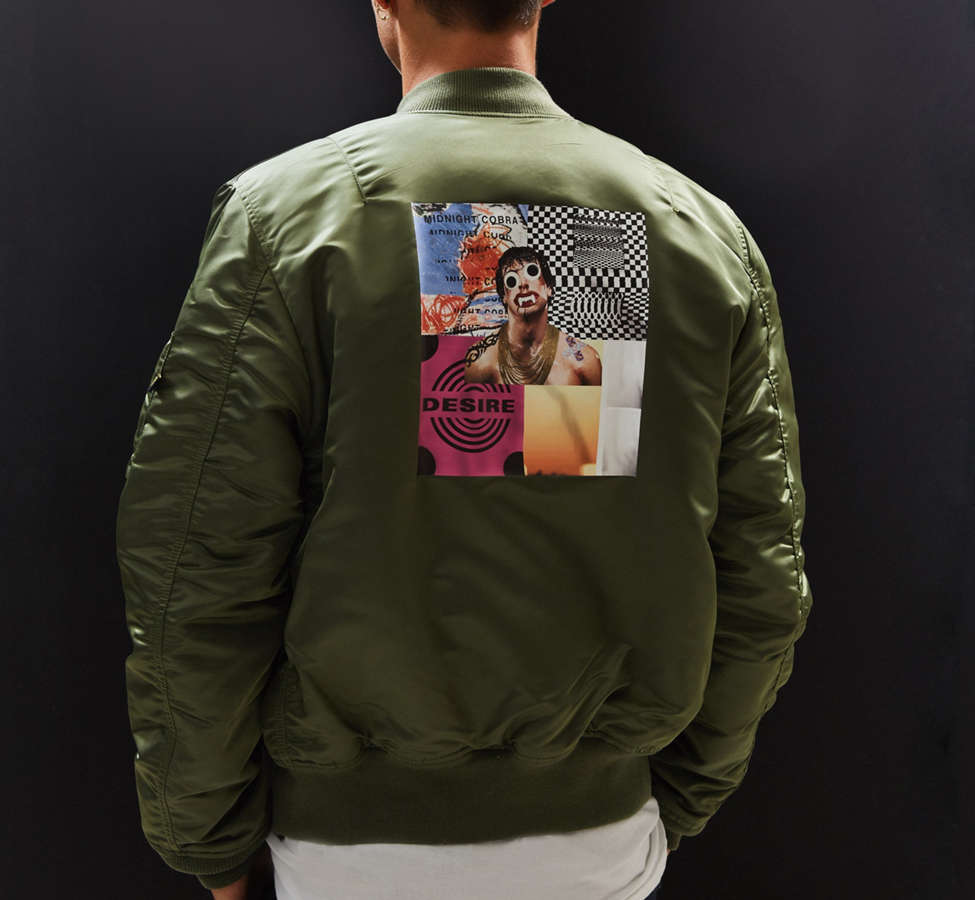 Slide View: 4: Alpha Industries X UO Collage Back Patch Bomber Jacket
