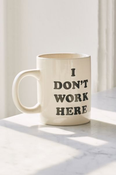 ban.do I Don't Work Here Mug - White One Size at Urban Outfitters