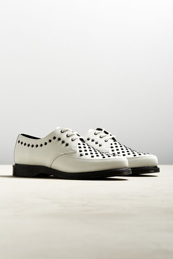 big sale sale online Dr Martens Willis studded creepers in white outlet exclusive YwhyC9fe01