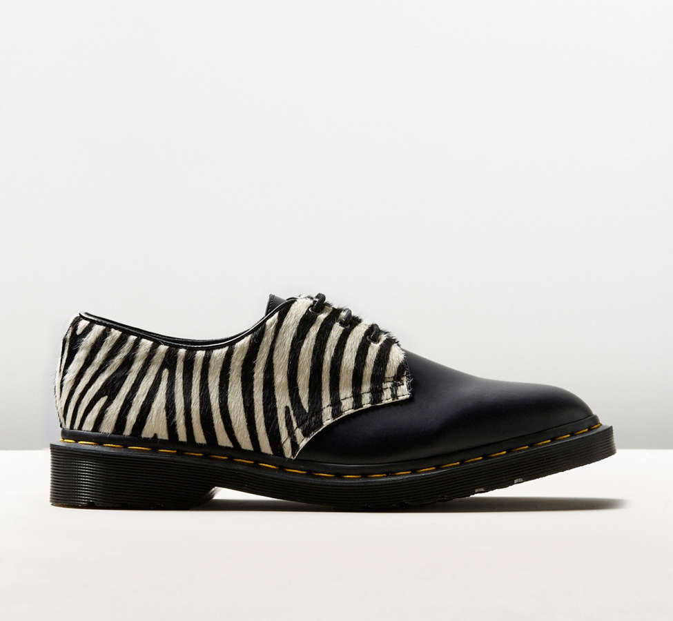 Slide View: 1: Dr. Martens 1461 Zebra Shoe