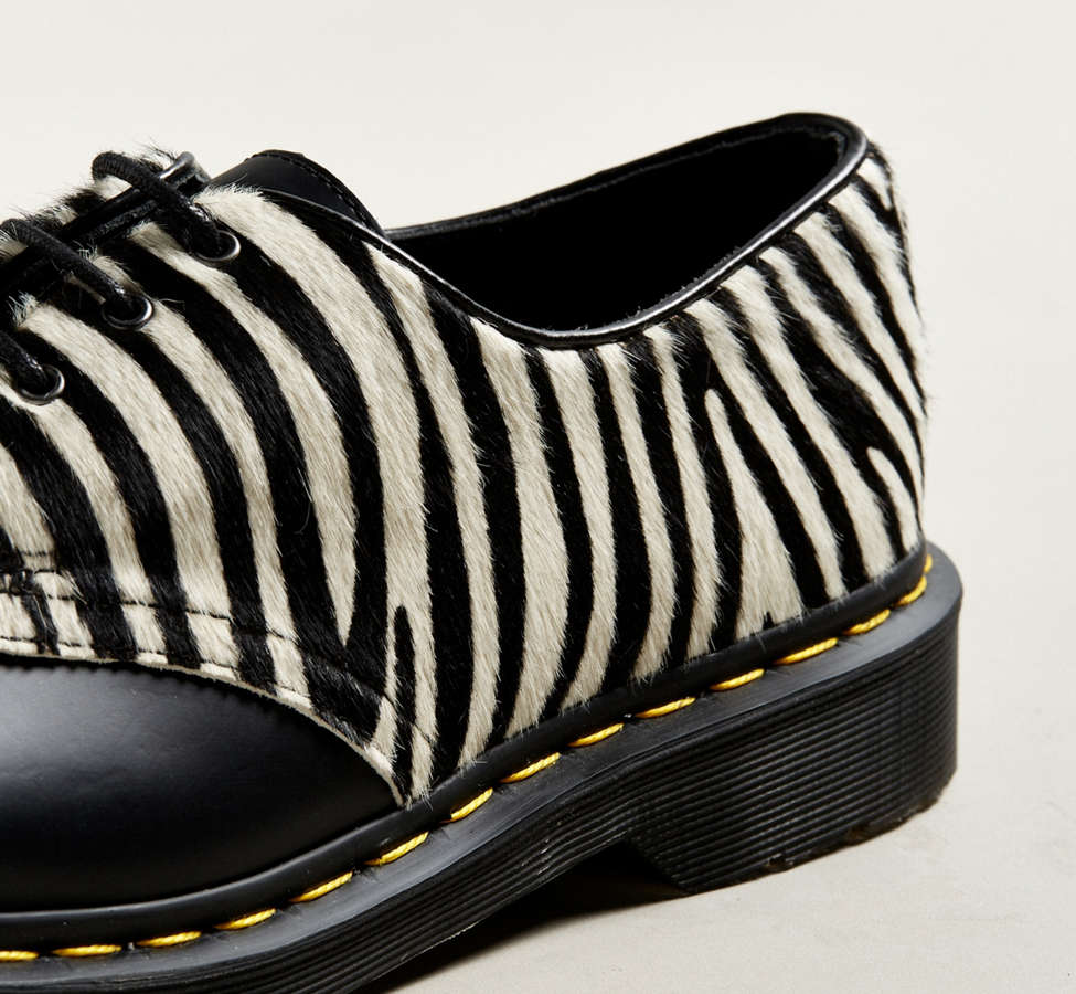 Slide View: 2: Dr. Martens 1461 Zebra Shoe