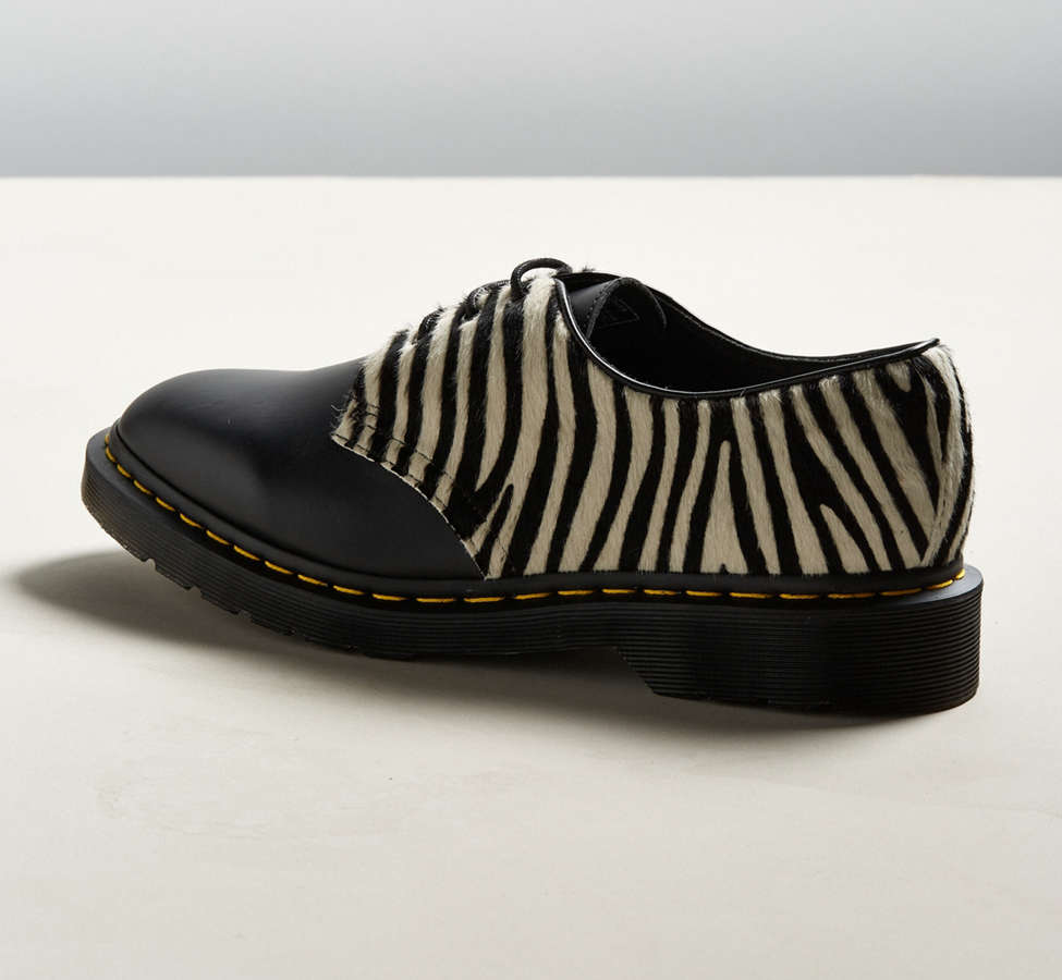 Slide View: 4: Dr. Martens 1461 Zebra Shoe