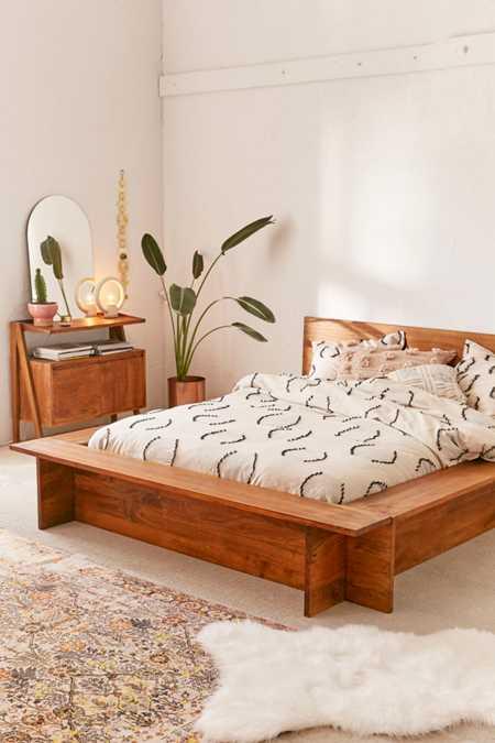 Modern Boho Platform Bed Frame
