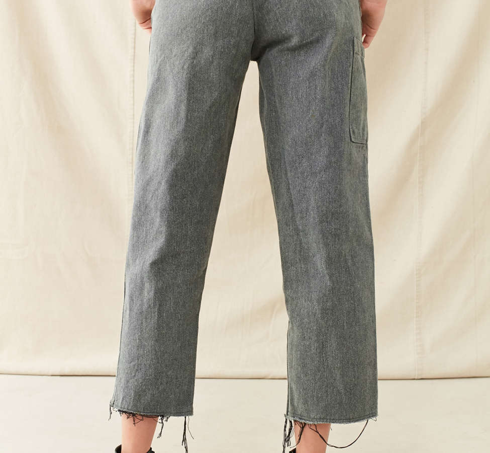 Slide View: 2: Vintage 1950s Cropped Work Pant