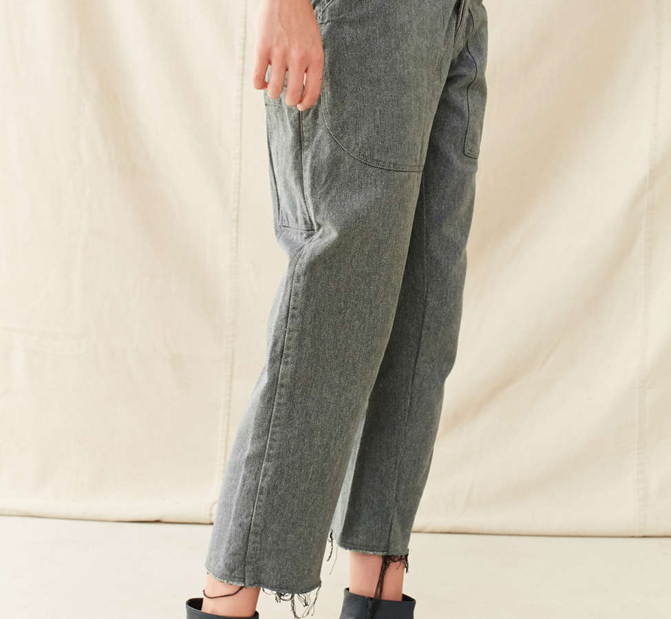 Slide View: 4: Vintage 1950s Cropped Work Pant
