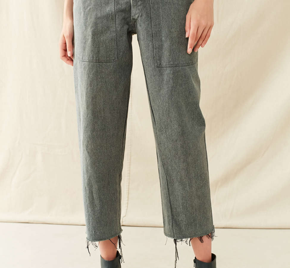 Slide View: 6: Vintage 1950s Cropped Work Pant