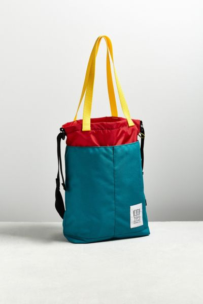 Topo Designs Top Cinch Tote Bag - Turquoise One Size at Urban Outfitters