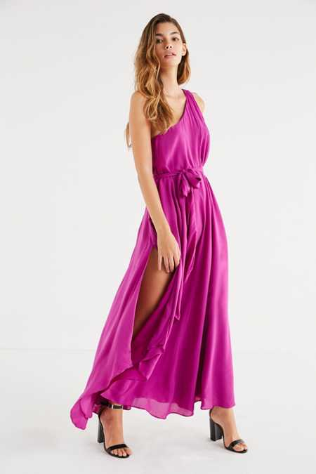 UO Avery One-Shoulder Maxi Dress
