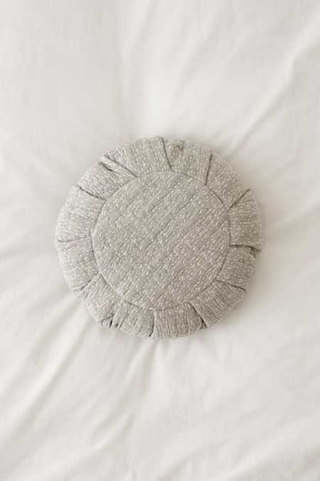 Stitched Jacquard Throw Pillow