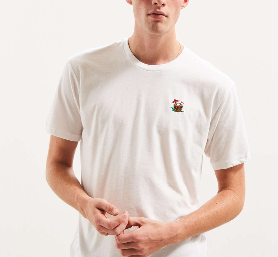 Slide View: 2: Riot Society Embroidered Coconut Tee