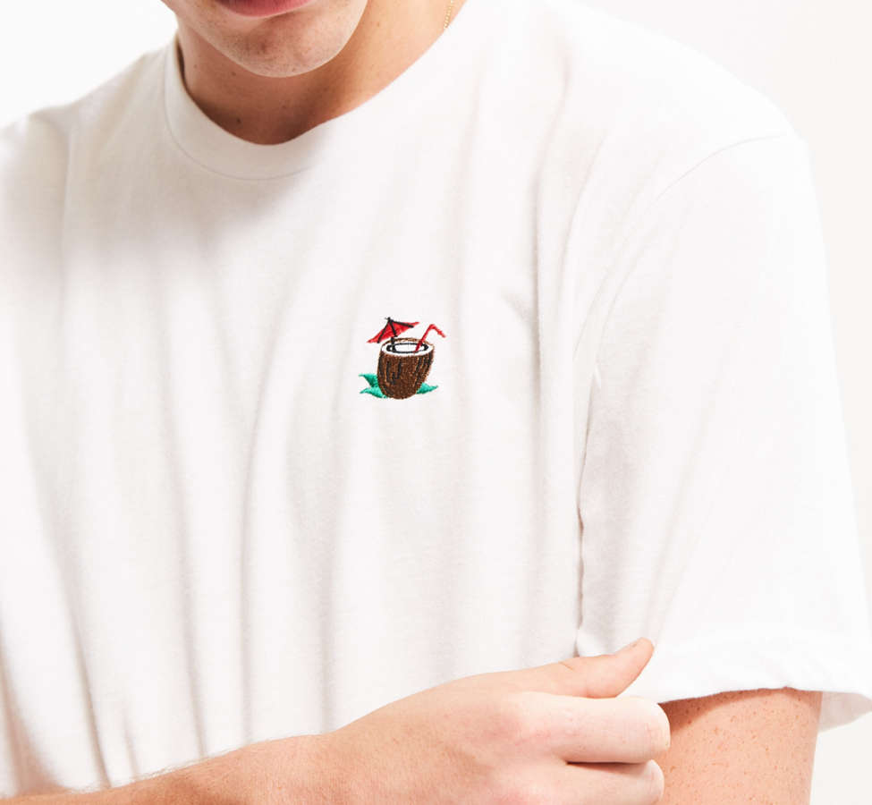 Slide View: 3: Riot Society Embroidered Coconut Tee