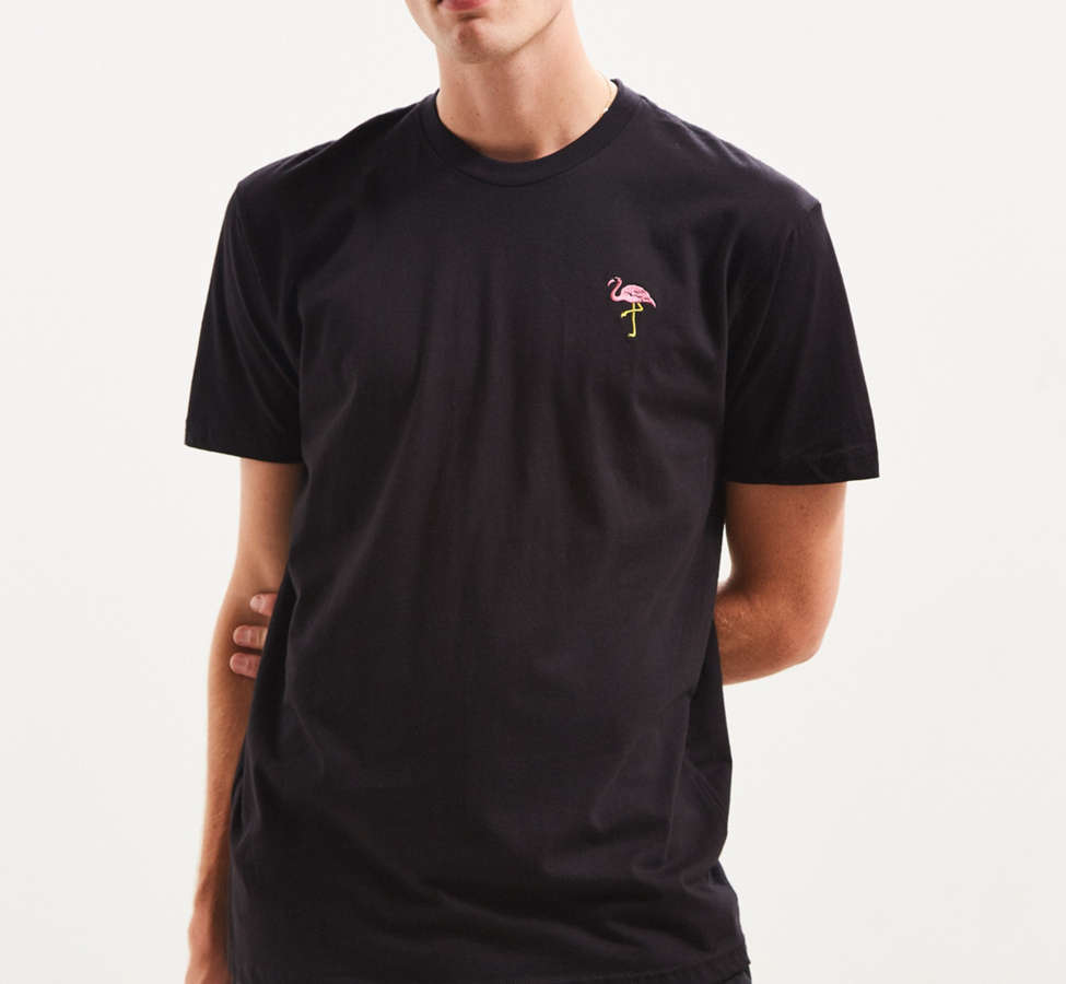 Slide View: 2: Riot Society Embroidered Flamingo Tee
